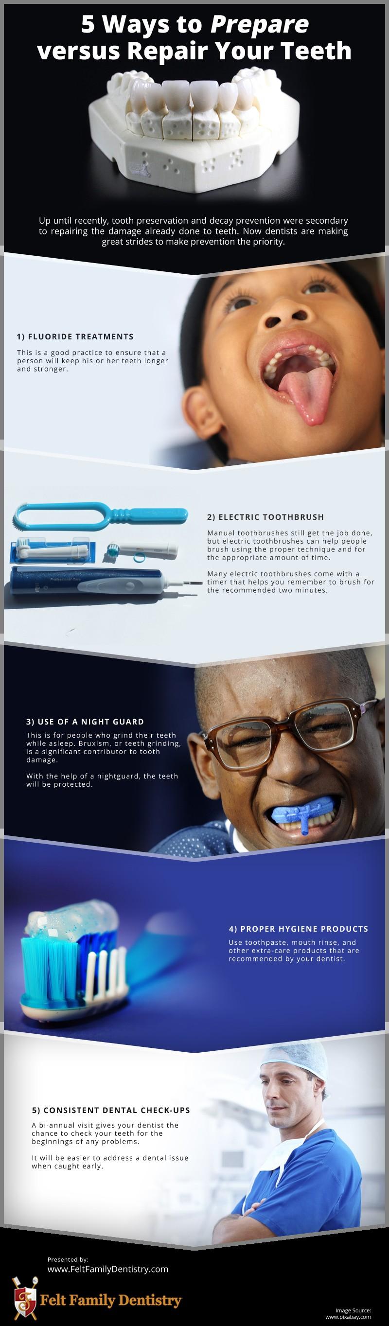 5 Ways to Prepare versus Repair Your Teeth [infographic]