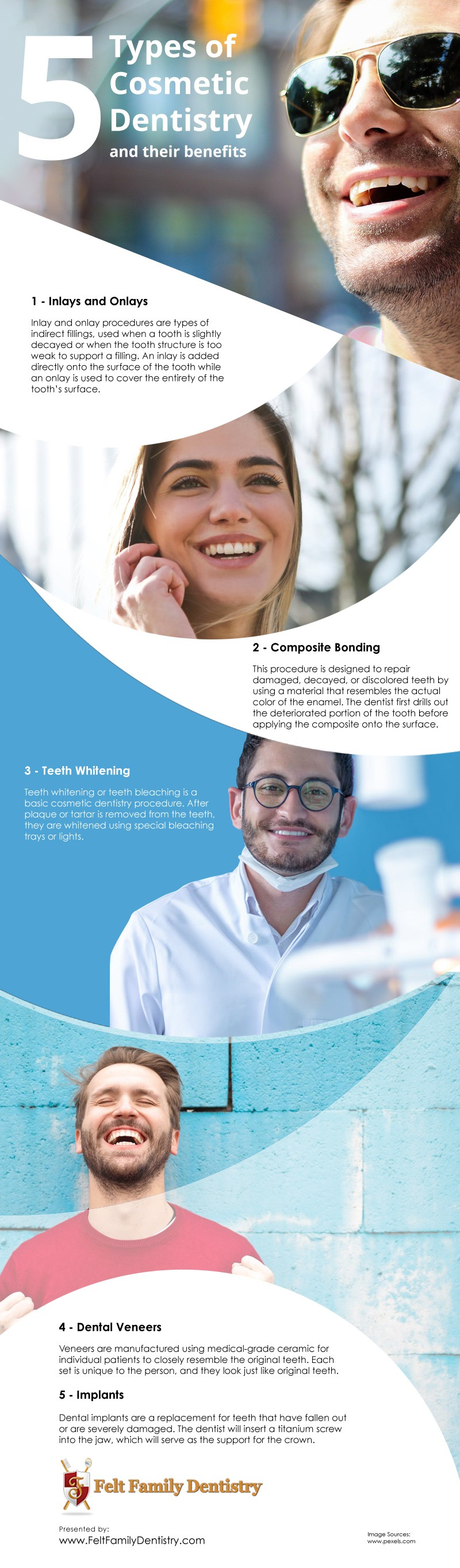 5 Types of Cosmetic Dentistry and their Benefits [infographic]